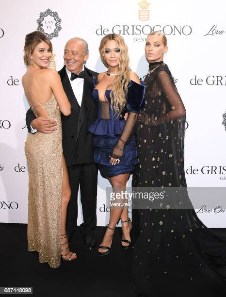 Camilla Marrone Fawaz Gruosi Rita Ora and Elsa Hosk attend the De Grisogono 'Love On The Rocks' party during the 70th annual Cannes Film Festival at...