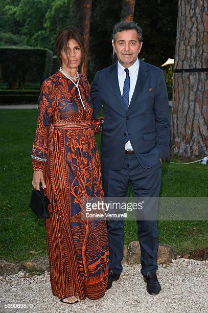Camilla Nesbitt and Pietro Valsecchi attend McKim Medal Gala In Rome at Villa Aurelia on June 9 2016 in Rome Italy