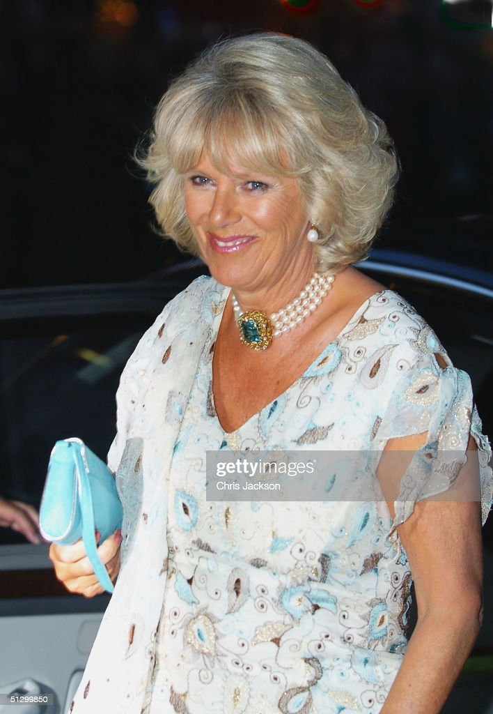 Camilla Parker Bowles arrives at the Royal Gala Premiere of Lord Andrew Lloyd Webber's new musical 'The Woman In White' at the Palace Theatre, Shaftesbury Avenue on September 13, 2004 in London.