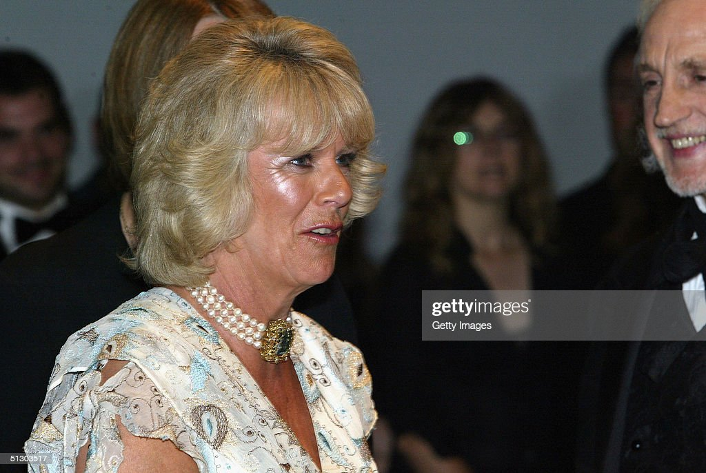 Camilla Parker-Bowles attends the Royal Gala Premiere of Lord Andrew Lloyd Webber's new musical 'The Woman In White' at the Palace Theatre, Shaftesbury Avenue on September 13, 2004 in London.