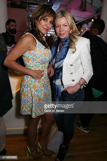 Camilla Paul and Fru Tholstrup attend the Lights of Soho private view>> on May 26 2015 in London England