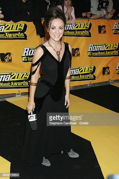 Camilla Raznovich arrives at the MTV Europe Music Awards 2004 held in Roma