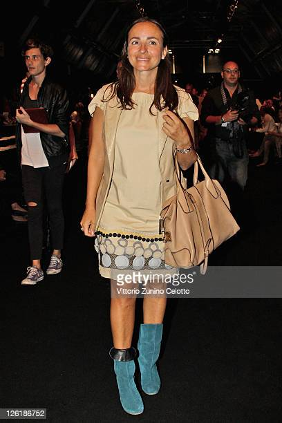Camilla Raznovich attends the C'N'C Costume National Spring/Summer 2012 fashion show as part Milan Womenswear Fashion Week on September 23 2011 in...