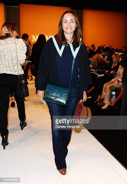 Camilla Raznovich attends the Max Mara Spring/Summer 2013 fashion show as part of Milan Womenswear Fashion Week on September 20 2012 in Milan Italy