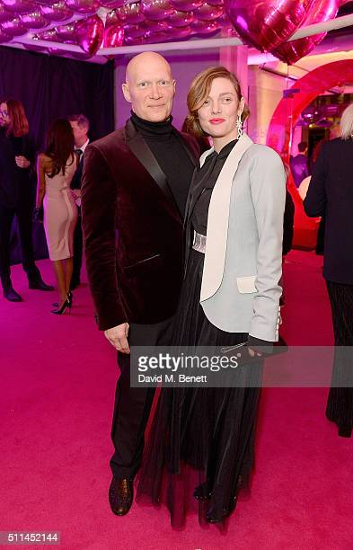 Camilla Rutherford and Dominic Burns at The Naked Heart Foundation's Fabulous Fund Fair in London at Old Billingsgate Market on February 20 2016 in...
