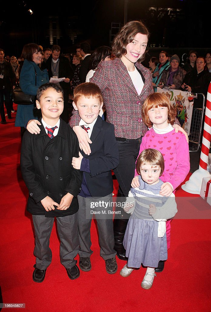Camilla Rutherford and guests attend the 'Nativity 2 Danger In The Manger' premiere at Empire Leicester Square on November 13 2012 in London England