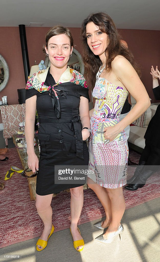 Camilla Rutherford and Lara Bohinc attend Mary Katrantzou for Rodial candle launch party at Soho Hotel on July 8, 2013 in London, England.
