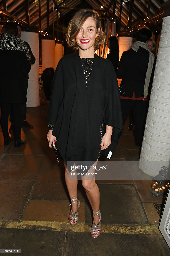 Camilla Rutherford attends a candlelit dinner for VINCE at Clifton Nurseries on November 11 2015 in London England