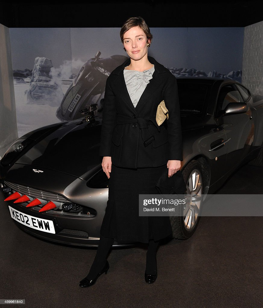 Camilla Rutherford attends 'Aston Martin: 50 Years Of Bond' at the London Film Museum on December 4, 2014 in London, England.
