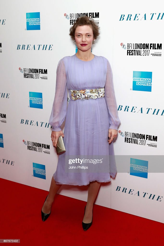 Camilla Rutherford attends the European Premiere of 'Breathe' on the opening night gala of the 61st BFI London Film Festival on October 4, 2017 in London, England.