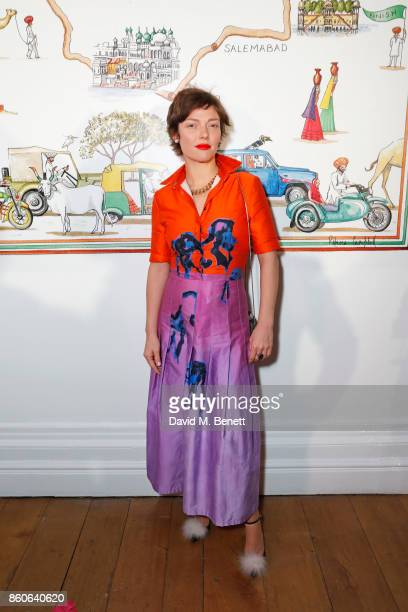 Camilla Rutherford attends the Travels to My Elephant racer sendoff party hosted by Ruth Ganesh Ben Elliot and Waris Ahluwalia in association with...