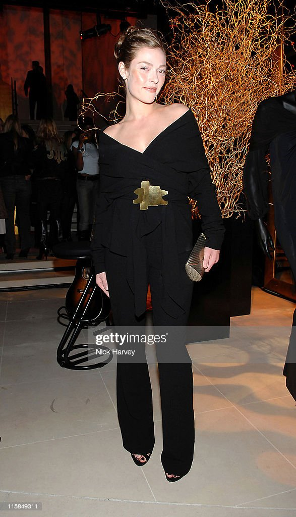 Camilla Rutherford during Donna Karan Celebrates the Launch of Her New Fragrance 'Gold' at Donna Karen Store in London Great Britain