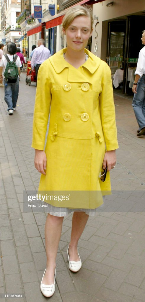 Camilla Rutherford during Evian Natural Beauty 2004 Competition at Fouberts Place in London Great Britain