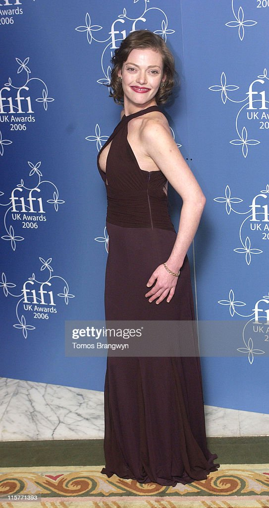 Camilla Rutherford during UK FiFi Awards 2006 Arrivals at The Dorchester in London Great Britain