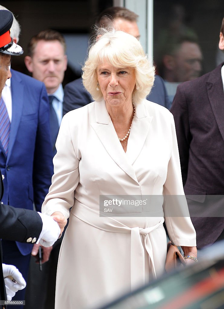 The Duchess of Cornwall attends The Globe for the 500 Word Final with Chris Evans on May 27, 2016 in London, England.