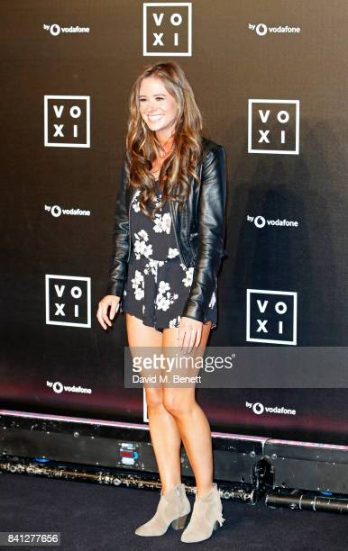 Camilla Thurlow attends the VOXI launch party at Brick Lane Yard on August 31 2017 in London England
