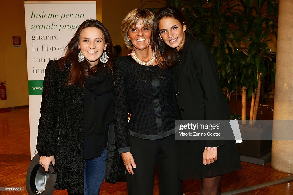 Camilla Treu, Donatella Treu and Ludovica Treu attend the Sotheby's charity auction for FFC Onlus on January 23, 2013 in Milan, Italy.