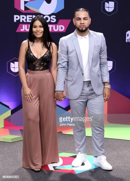 Camillaa Inc and Lejuan James attend the Univision's 'Premios Juventud' 2017 Celebrates The Hottest Musical Artists And Young Latinos ChangeMakers at...