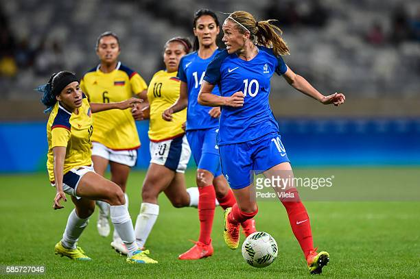 Camille Abily of France a match between France and Colombia as part of Women's Football Olympics at Mineirao Stadium on August 3 2016 in Belo...