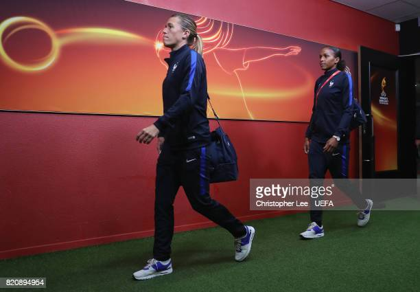 Camille Abily of France arrives during the UEFA Women's Euro 2017 Group C match between France and Austria at Stadion Galgenwaard on July 22 2017 in...