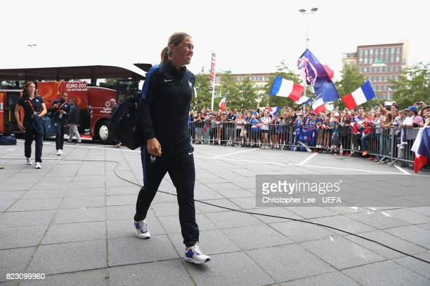Camille Abily of France arrives during the UEFA Women's Euro 2017 Group C match between Switzerland and France at Rat Verlegh Stadion on July 26 2017...