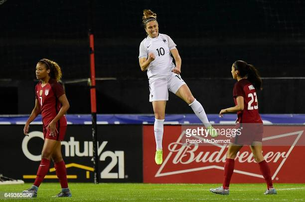 Camille Abily of France celebrates after scoring a goal against the United States of America in the first half during the 2017 SheBelieves Cup at RFK...