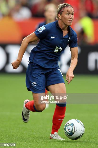 Camille Abily of France during the FIFA Women's World Cup 2011 Quarter Final match between England and France at the FIFA Women's World Cup Stadium...