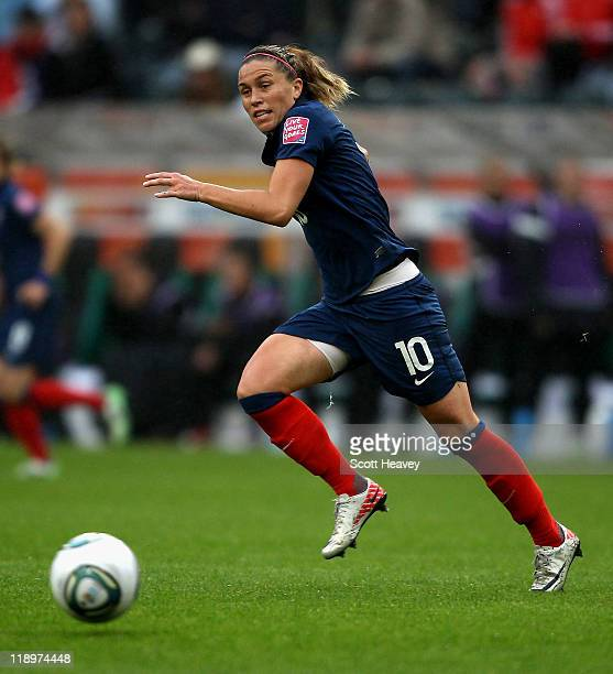 Camille Abily of France during the FIFA Women's World Cup 2011 Semi Final match between France and USA at Borussia Park on July 13 2011 in...