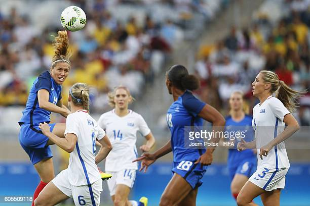 Camille Abily of France in action during the Women's Group G match between USA and France on Day 1 of the Rio2016 Olympic Games at Mineirao Stadium...