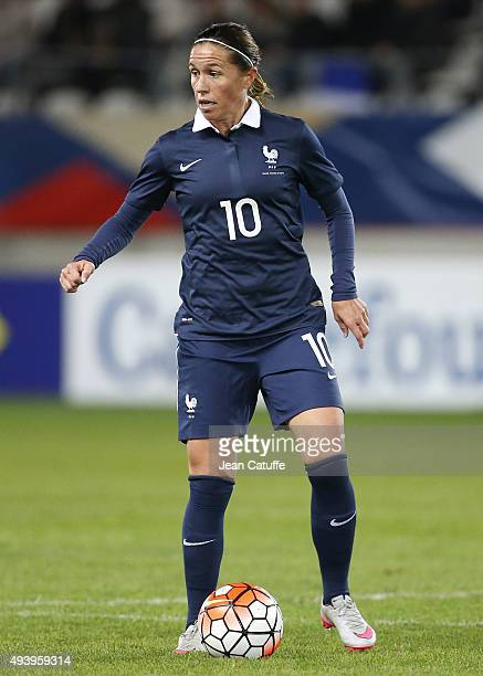 Camille Abily of France in action during the women's international friendly match between France and The Netherlands at Stade Jean Bouin on October...