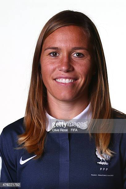 Camille Abily of France poses during a FIFA Women's World Cup portrait session on June 6 2015 in Moncton Canada
