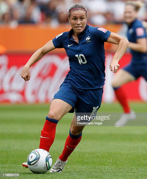 Camille Abily of France runs with the ball during the FIFA Women's World Cup 2011 Quarter Final match between England and France at the FIFA Women's...
