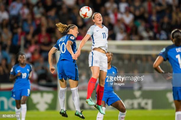 Camille Abily of France women Jade Moore of England women during the UEFA WEURO 2017 quarter finale match between England and France at The...