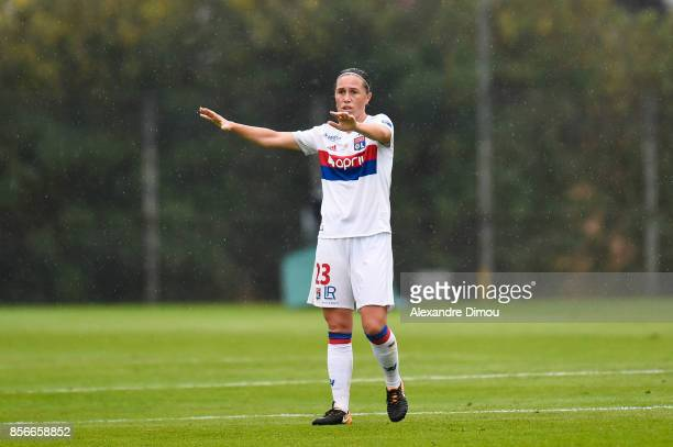 Camille Abily of Lyon during the women's Division 1 match between Montpellier and Lyon on September 30 2017 in Montpellier France