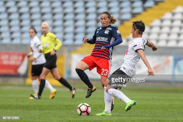 Camille Abily of Olympique during the UEFA Women's Champions League match between KKPK Medyk Konin and Olympique Lyon on October 4 2017 in Konin...