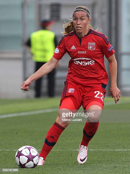 Camille Abily of Olympique Lyonnais in action during the UEFA Women's Champions League Final VfL Wolfsburg and Olympique Lyonnais between at Mapei...