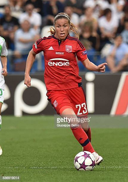 Camille Abily of Olympique Lyonnais in action during UEFA Women's Champions League Final between VfL Wolfsburg v Olympique Lyonnais at Mapei Stadium...