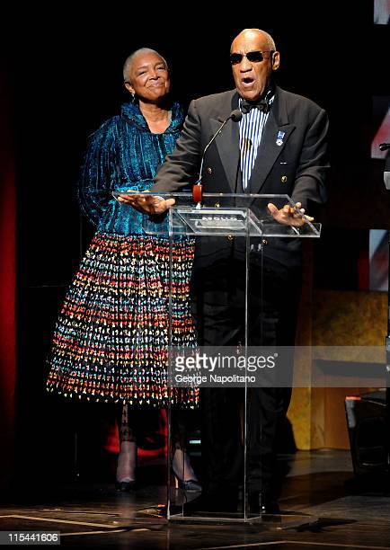 Camille and Bill Cosby attends the Apollo Theater's 75th Anniversary Gala at The Apollo Theater on June 8 2009 in New York City