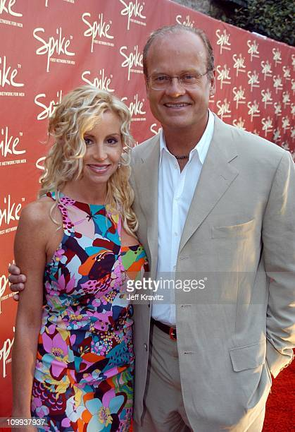 Camille and Kelsey Grammer during The Official Launch Party For Spike TV At The Playboy Mansion Arrivals at The Playboy Mansion in Bel Air California...