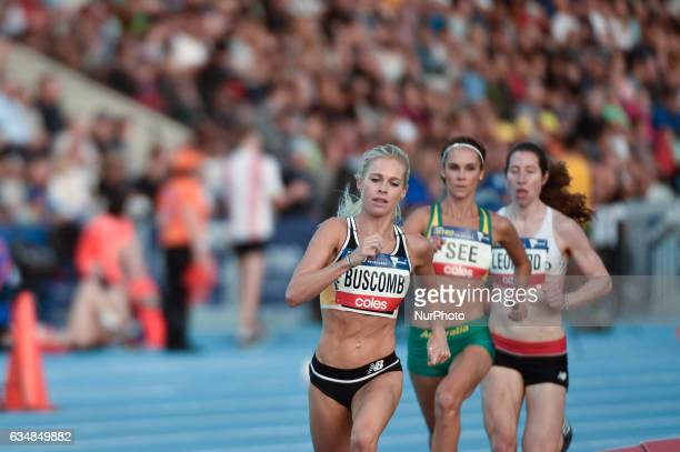 Camille Bascomb of the Bolt All Stars competes in the Mixed Relay at Nitro Athletics at Lakeside Stadium on February 11 2017 in Melbourne Australia