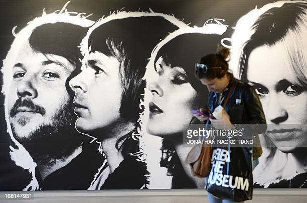 Camille BAS A visitor is pictured at the world's first permanent Swedish disco group ABBA's museum on May 6 2013 in Stockholm on the eve of teh...