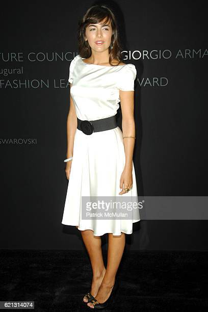 Camille Bell attends Fashion Institute of Technology Presents the First Couture Council Award for Global Fashion Leadership to GIORGIO ARMANI...