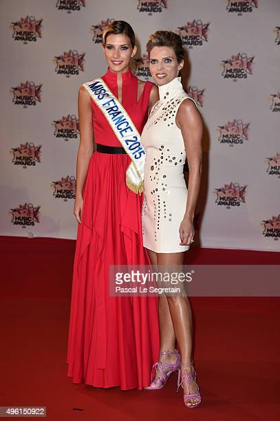 Camille Cerf and Sylvie Tellier attend the 17th NRJ Music Awards at Palais des Festivals on November 7 2015 in Cannes France