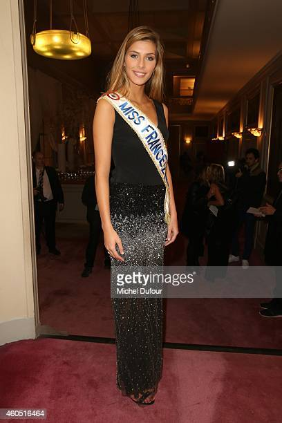 Camille Cerf attends the 'Les Sapins De Noel Des Createurs Designer's Christmas Trees Auction AT Drouot on December 15 2014 in Paris France
