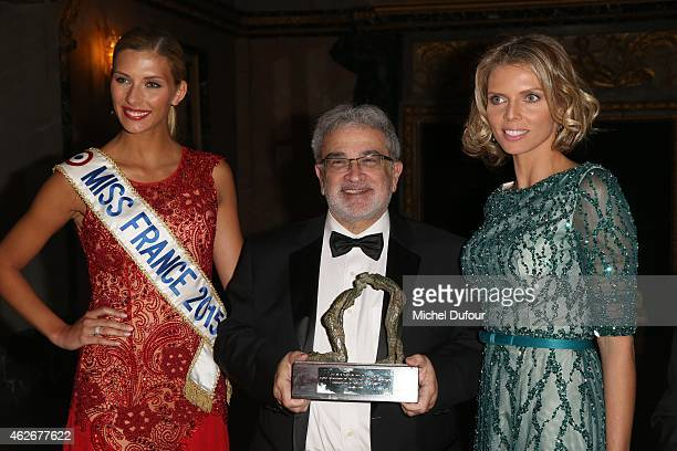Camille Cerf Prof Serge Uzan and Sylvie Tellier attend the David Khayat 'Fondation Avec' Gala Dinner In Versailles on February 2 2015 in Versailles...