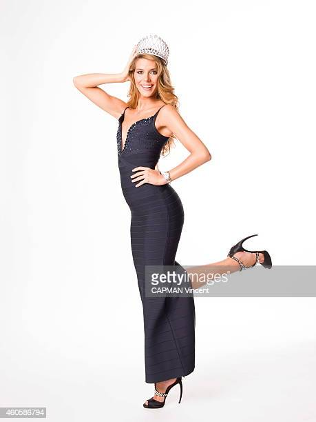 Camille Cerf the new Miss France 2015 poses on December 7 2014