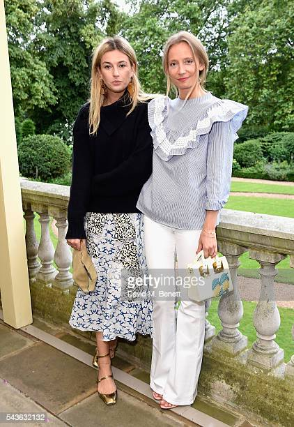 Camille Charriere and Martha Ward attend the Creatures of the Wind Resort 2017 collection and runway show presented by Farfetch at Spencer House on...