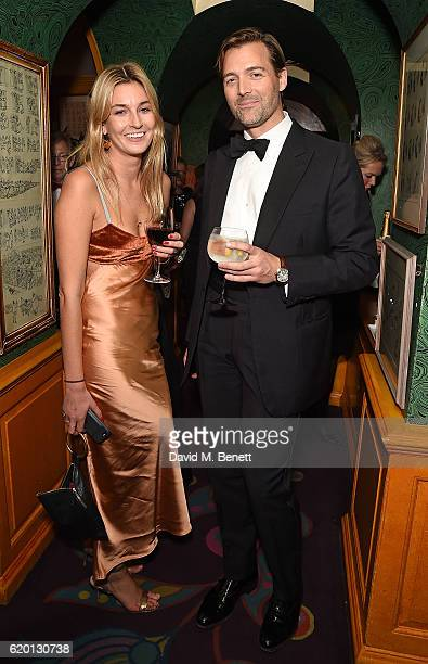Camille Charriere and Patrick Grant attend a private dinner hosted by Annabel's celebrating the 125th anniversary of The Dog's Trust on November 1...