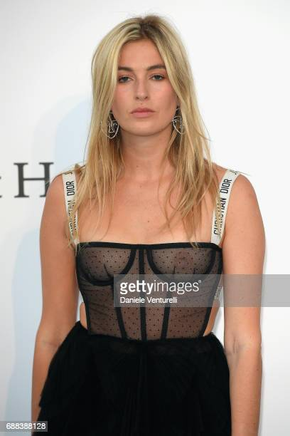 Camille Charriere arrives at the amfAR Gala Cannes 2017 at Hotel du CapEdenRoc on May 25 2017 in Cap d'Antibes France