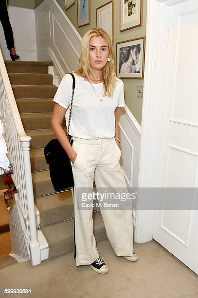 Camille Charriere attends a cocktail reception hosted by RACIL and MATCHESFASHIONCOM to celebrate the launch of Racil AW16 Collection on September 7...